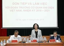 Trưởng Ban Dân vận Trung ương làm việc với Đại sứ, Trưởng Cơ quan đại diện Việt Nam ở nước ngoài