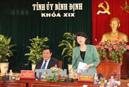 Phó Chủ tịch nước Đặng Thị Ngọc Thịnh làm việc tại tỉnh Bình Định