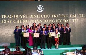 Hà Nội trao các quyết định đầu tư trên 17 tỷ USD tại hội nghị hợp tác đầu tư và phát triển