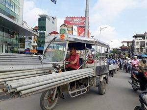 Xe 3-4 bánh tự chế vẫn tung hoành khắp phố phường Hà Nội