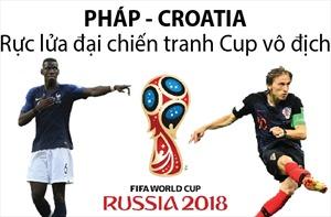 World Cup 2018: Pháp - Croatia rực lửa đại chiến tranh cúp vô địch