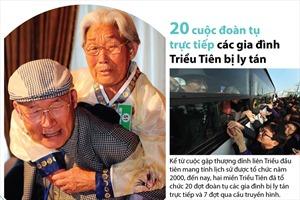 20 cuộc đoàn tụ trực tiếp các gia đình Triều Tiên bị ly tán