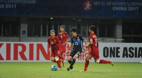 U19 nữ Việt Nam thua đậm 0-8 trước đương kim vô địch Nhật Bản