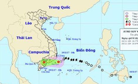 Hoàn lưu áp thấp nhiệt đới gây mưa to từ Quảng Nam đến Bình Thuận