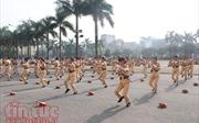 Hội thi điều lệnh võ thuật công an nhân dân