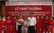 Agribank chi nhánh Bắc Hải Phòng: Trao quà tặng khách hàng trúng thưởng