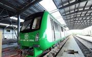 Đoàn tàu số 2 và 3 dự án đường sắt Cát Linh-Hà Đông đã tập kết an toàn về khu ga Hà Đông