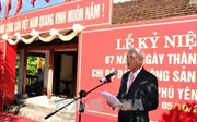 Kỷ niệm 87 năm ngày thành lập Chi bộ Đảng Cộng sản đầu tiên tại Phú Yên