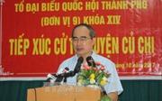 Bí thư Thành ủy TP Hồ Chí Minh Nguyễn Thiện Nhân: Không để bức xúc của người dân kéo dài