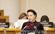 Chủ tịch Quốc hội Nguyễn Thị Kim Ngân phát biểu tại phiên họp toàn thể IPU-137