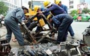 Lý giải nguyên nhân 'siêu máy bơm' tê liệt, đường Nguyễn Hữu Cảnh ngập sâu
