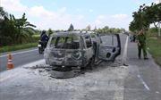 Thông tin chính thức vụ đốt xe trên Quốc lộ 61C