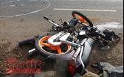Long An: Xe container tông xe máy, một người tử vong