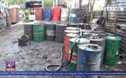 Phát hiện cơ sở sản xuất dầu nhớt tái chế xả thải ra môi trường