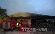 Cháy xưởng gỗ tại Thường Tín (Hà Nội)  do chập điện