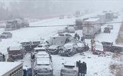 70 ô tô đâm liên hoàn trên cao tốc trắng xóa tuyết