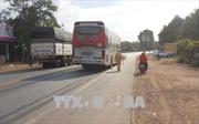 Xe khách tông xe máy trên Quốc lộ 14 khiến một người tử vong