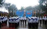 Nghiêm trang Lễ chào cờ sáng Mùng 1 Tết trên đảo Sinh Tồn