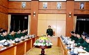 Đại tướng Ngô Xuân Lịch làm việc với Bộ Tổng Tham mưu