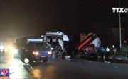 Bốn vụ tai nạn liên tiếp, cao tốc Pháp Vân - Cầu Giẽ ùn tắc kéo dài