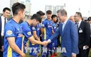 Tổng thống Hàn Quốc giao lưu với U23 Việt Nam và HLV Park Hang-seo