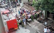 Hiện trường vụ cháy lớn gần chân cầu Vĩnh Tuy khiến cụ già 96 tuổi thiệt mạng