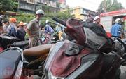 Cháy lớn tại công trường bệnh viện Việt - Pháp, công nhân chạy tán loạn