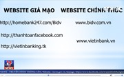 Cảnh báo website giả mạo ngân hàng