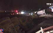 Những hình ảnh vụ tai nạn đường sắt nghiêm trọng tại Thanh Hóa sáng 24/5