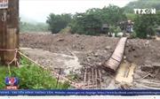 Sập cầu treo tại Yên Bái, một xã bị cô lập hoàn toàn
